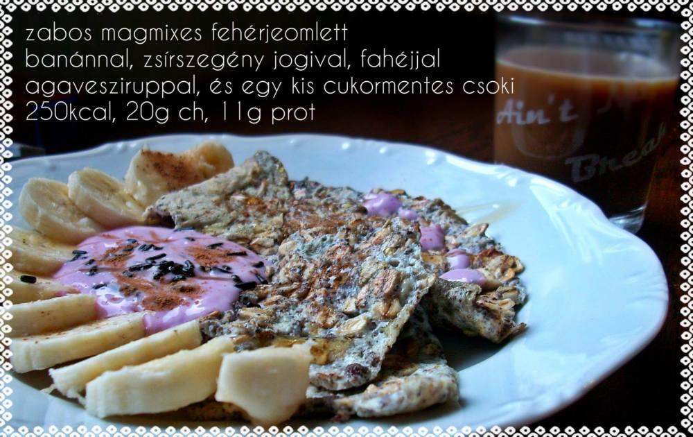 zabos-magos fehérje omlett