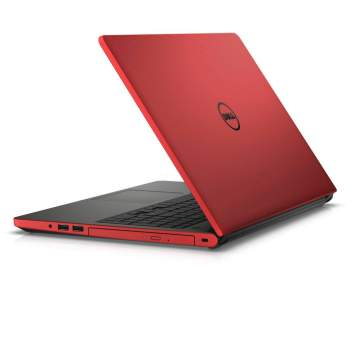 Dell Inspiron 15 5000 Series (Model 5558 Tulip) Non-Touch 15-inch notebook computer with Intel BDW Broadwell processor, in Beijing Red.